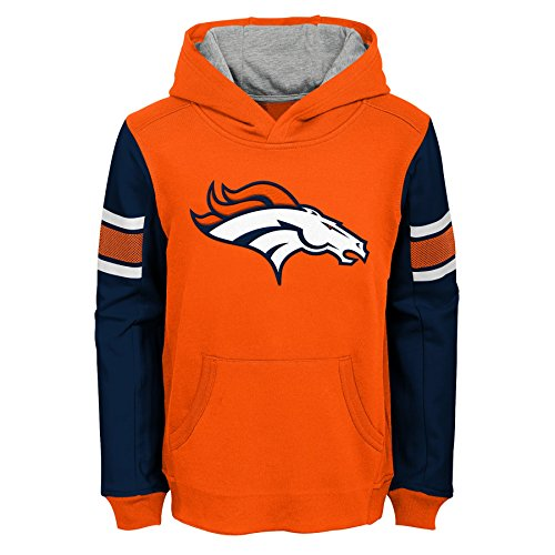 Outerstuff NFL Little Kids & Youth Boys Man in Motion Pullover Hoodie, Orange, Kids Large(7)