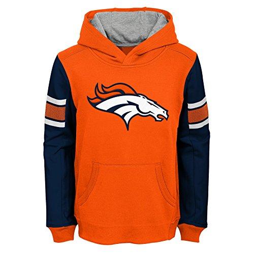 Outerstuff NFL Little Kids & Youth Boys Man in Motion Pullover Hoodie, Orange, Kids - Sweatshirt Broncos Denver Orange