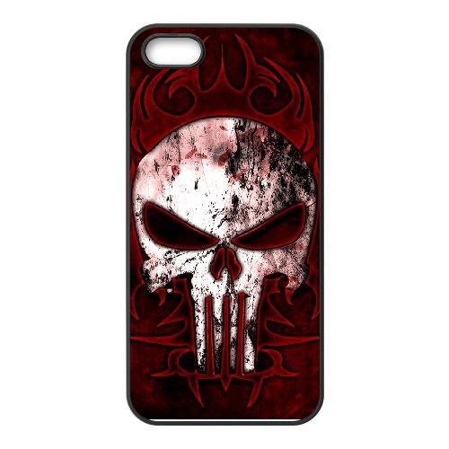 Bloody The Punisher Skull Logo 001 coque iPhone 5 5S cellulaire cas coque de téléphone cas téléphone cellulaire noir couvercle EOKXLLNCD22317