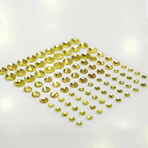 Rhinestones Wholesale Self Adhesive (Efavormart Wholesale Self Adhesive Multi-Sized Crystal Diamond Rhinestone Stickers Car Mobile PC Decoration - Yellow 594 PCS)