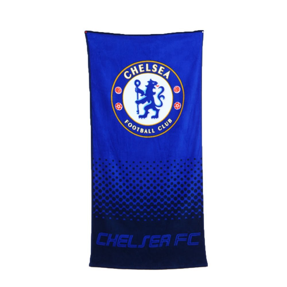 Club Licensed Chelsea Fade Beach Towel (140 x 70cm) - One Size Chelsea FC