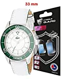 Universal Round watch SCREEN Protector (2 Units) Invisible Protection GOOD FOR SMART WATCH TOO by IPG Size options are available (33 mm diameter)