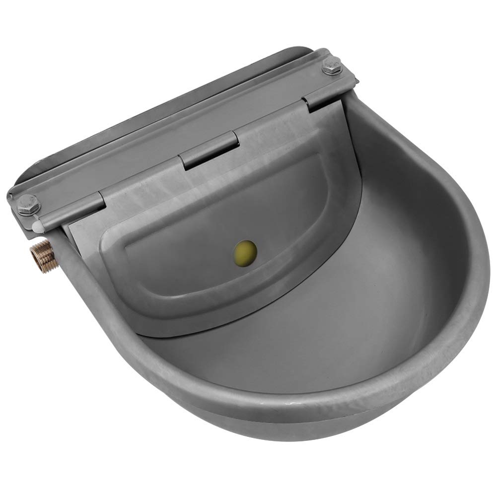 KSTE Trough Horses Automatic, Stainless Steel Corrosion Resistant, High Temperature, Suitable for Horses, Goats, Sheep, Bovini.4 Liters, 22 Centimeters by KSTE