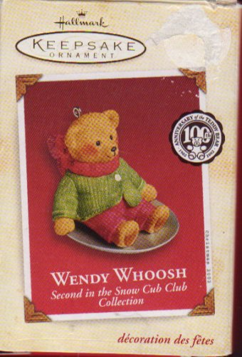 Hallmark Ornament 2002 Wendy Whoosh 2nd in Snow Cub Club Collection