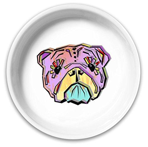 Sugar Skull Puppy Dog Bowl  Solid
