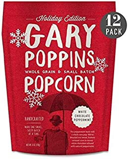 product image for Gary Poppins Popcorn - White Chocolate Peppermint (6oz) - 12 Pack Flavored Popped Corn HOLIDAY EDITION