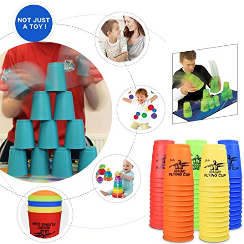 AMA(TM) 12PC/Set Cups Stacking Sport Speed Stacks Competitor Game Mat Pro Timer Play Toy (random)