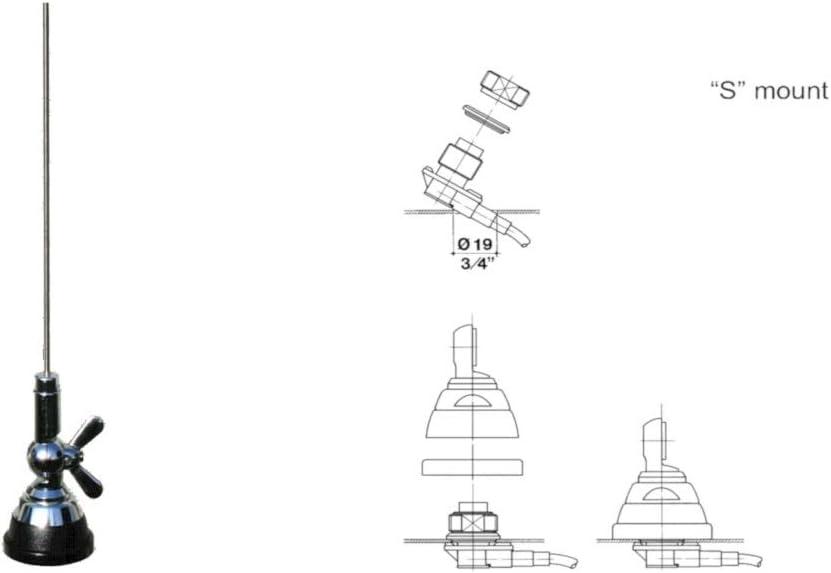 SIRIO SMA 108-550 S Antena VHF 108 300 MHz TARABLE: Amazon.es ...