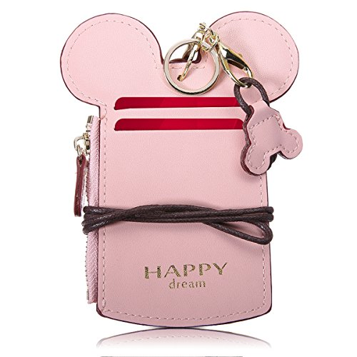 Neck Pouch, Charminer Card Holder Wallet Purse Neck Bag Travel Documents, Cute Animal Shape for Women Pink -