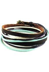 Soft Leather Multicolour Ropes Women Leather Bracelet Women Wrap Cuff Bracelet SL2284
