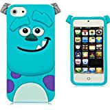iPhone 5/5S Silicone Case,Emily Fashion Super Cute 3D Cartoon Character Blue Monster Protective Silicone Back Case Cover for iPhone 5/5S