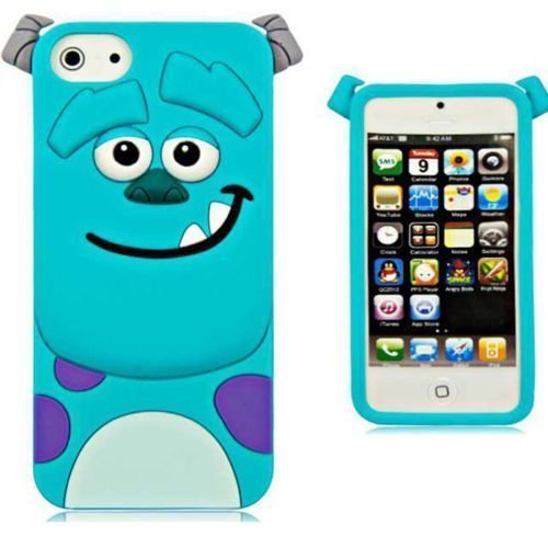 iPhone 6 Case iPhone 6S Silicone Case,Emily Fashion Super Cute 3D Cartoon Character Blue Monster Protective Silicone Back Case Cover for iPhone 6/6S 4.7 inch