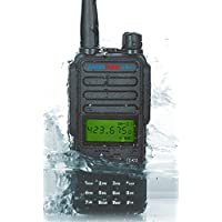 RADIOPLUS TC-K12 136-174MHz VHF Portable Handheld Radio 12W High Power Radio Waterproof with Screen Walkie Talkie (Pack of 2)