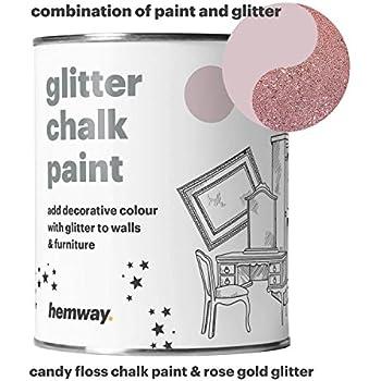 Hemway Clear Glitter Paint Glaze Silver 1l Quart For