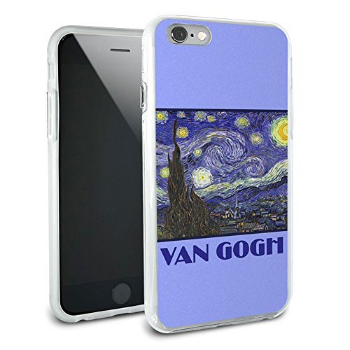 Starry Night – Vincent Van Gogh, Hybrid Rubber Schutz Hülle Slim Case Cover Etui Bumper für Apple iPhone 6