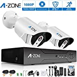 A-ZONE 4ch HD-TVI 1920x1080P Video Security System DVR and (2) 1080P Indoor/Outdoor Weatherproof Cameras with IR Night Vision LEDs- with 1TB HDD,White Review