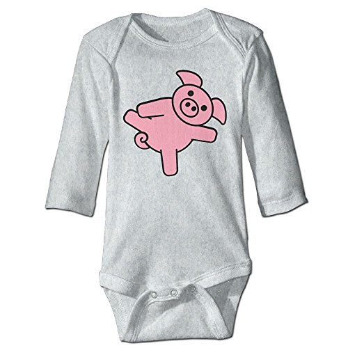 Price comparison product image Pig With Dick Fashion Cute Unisex Baby Long Sleeve Body Suit 0-24 Months