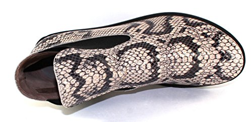 Arche Womens Skatch In Pelle Stampata Allison Serpente / Elastico Nero - Taglia 41 M