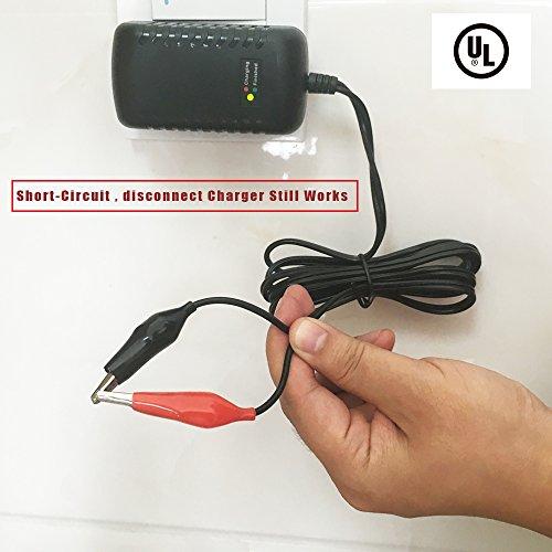 12V 1500mA Sealed Lead Acid (SLA) Smart Battery Charger With Alligator Clip, Pop Time UL Approved Qualified 12V Battery Charger Wall Mounted by Pop Time (Image #2)