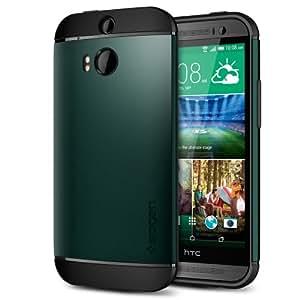 Spigen HTC One M8 2014 Slim Armor Series funda carcasa case Aintree Green SGP10814