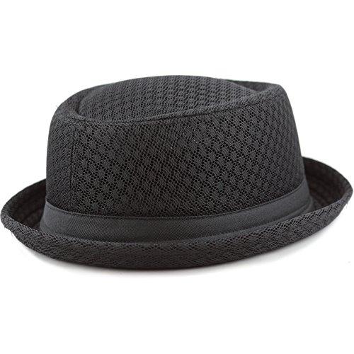 The Hat Depot Unisex Light Weight Classic Soft Cool Mesh Pork Pie hat