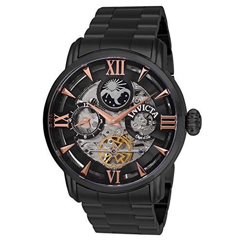 Invicta 27580 Men's Objet D Art Moon Phase Black Bracelet Watch