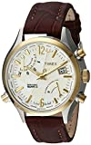 Timex Men's TWH4Z5210 Intelligent Quartz Fly-Back Chronograph Red-Brown Leather Strap Watch