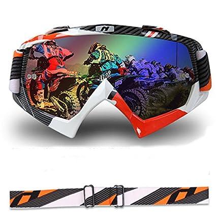 Alamor Gafas De Seguridad De La Motocicleta A Prueba De Polvo Windprooof Motocross Casco De La