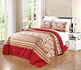 Oversized Quilts for King Size Beds GrandLinen 3-Piece Fine Printed Oversize (115
