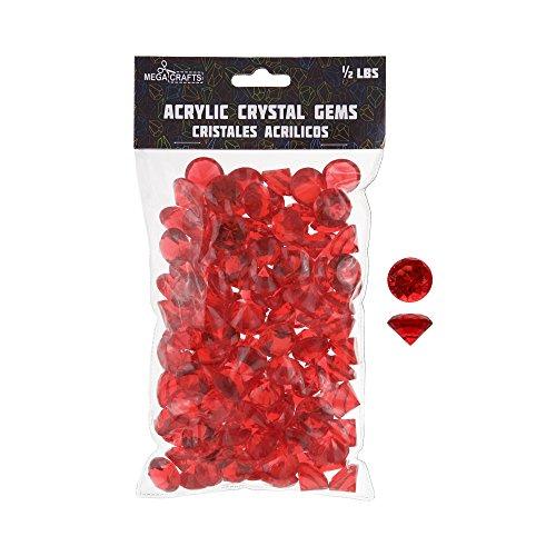 decorative gems red - 2