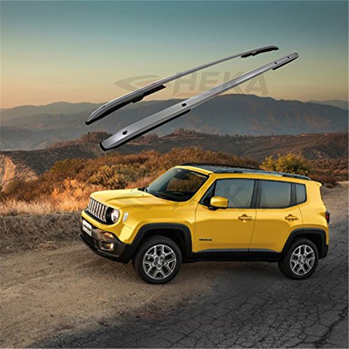 Silver Roof Rack Rail fit for JEEP Renegade 2015-2017 Cross Bar Carrier Luggage -  HEKA, 00JP0ZYXYCKXLJYS