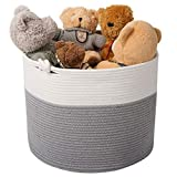 Goodpick Cotton Rope Basket with Handle for Baby