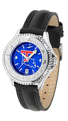 Tech Bulldogs Watch Louisiana Sport (New Linkswalker Louisiana Tech Bulldogs Ladies' Competitor Anochrome Watch)
