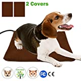 Pet Heating Pad - Wrcibo Heated Dog Mat Cat Warming Pad with 7 Adjustable Temperature Settings Waterproof Chew Resistant Steel Cord 16