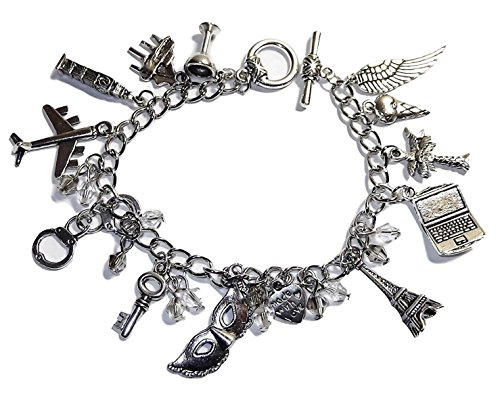 50 Shades of Grey 12 Assorted Themed Charms Charm BRACELET -