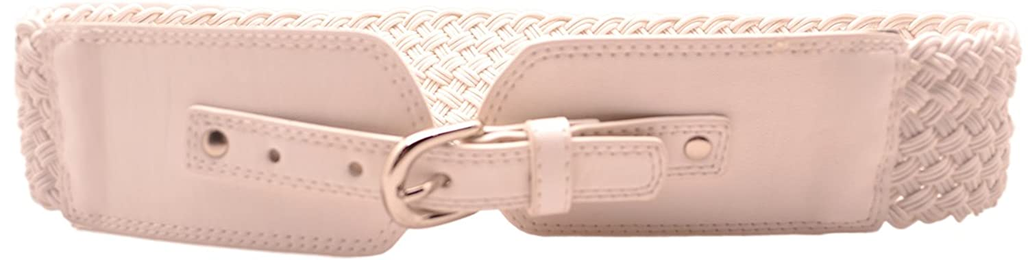 Style & Co (Sm33603) Belt Braided White Size M/ L
