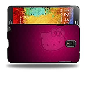 Case88 Designs Hello Kitty Collection 0631 Protective Snap-on Hard Back Case Cover for Samsung Galaxy Note 3