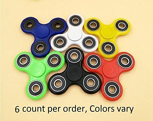 Oasis Supply Ultra Fast Fidget Hand Spinner, Colors Vary, 6 Count