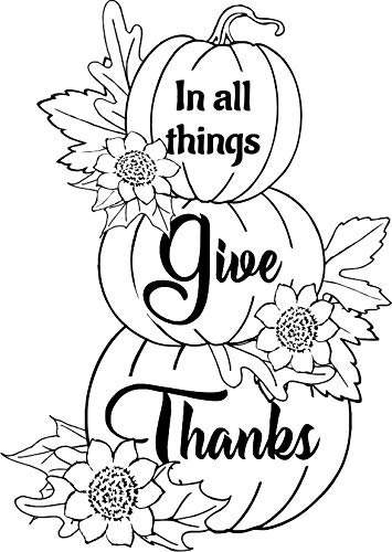 Give Thanks Pumpkin Stack Rubber Stamp by DRS Designs Rubber Stamps
