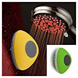 HotelSpa Ultra-Luxury 7-Setting 7 color LED Handheld Shower-Head with Bonus New Slimline Waterproof Bluetooth Shower Speaker available in 5 colors (GREEN) Great Gift Pack for Holidays!
