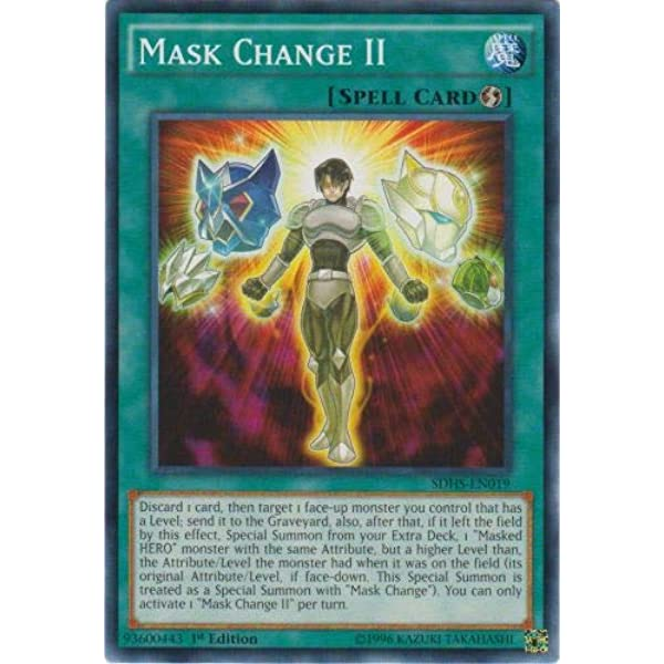 SDHS-EN019 Mask Change II  Mixed Edition Nr Mint YuGiOh Card