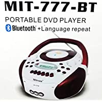 Gadget-Wagon MIT Portable DVD Player Speaker with Bluetooth, Cassette/Recorder FM Radio, USB, Memory Card Input Video Outpu