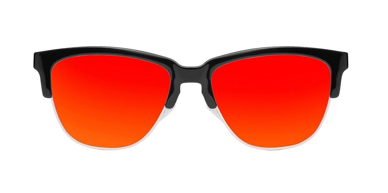 Unisex Classic Sunglasses, Multicolored (Orange), One Size Hawkers