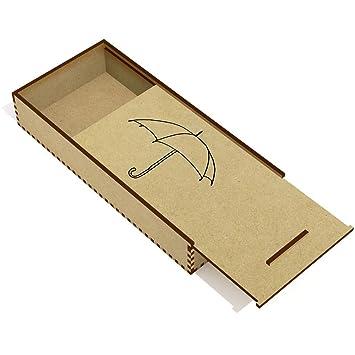 Azeeda Paraguas Estuche de lápices de Madera (PC00018107)
