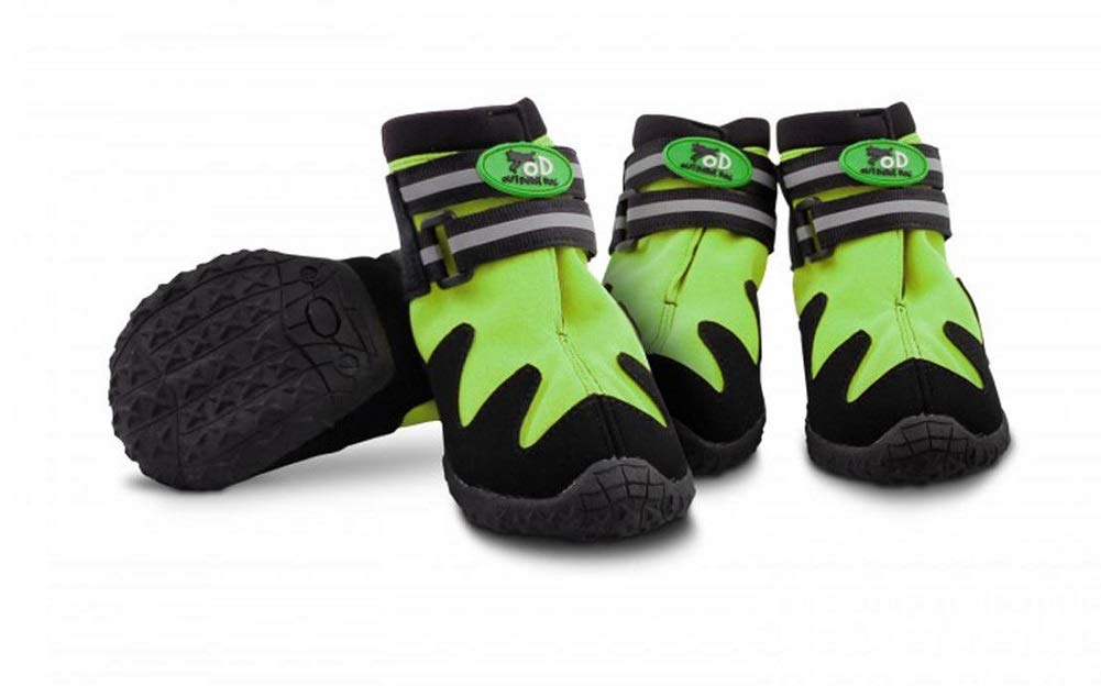 Green Size 8All Paws All Dog Boots, Green, Size 5 For Road