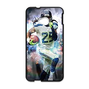 Happy SEATTLE SEAHAWKS NFL Football Sport Black Phone Case for HTC One M7