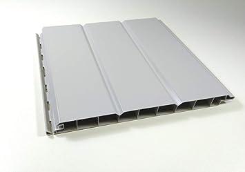 Pvc Paneele 6qm Wandverkleidung Deckenverkleidung Aussenbereich Grau 200mm X 6000mm Amazon De Baumarkt