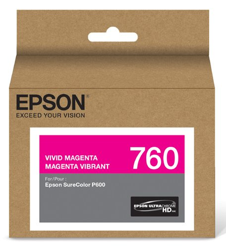 Ultrachrome Magenta Ink (Epson T760320 UltraChrome HD Vivid Magenta Standard Capacity Cartridge Ink)