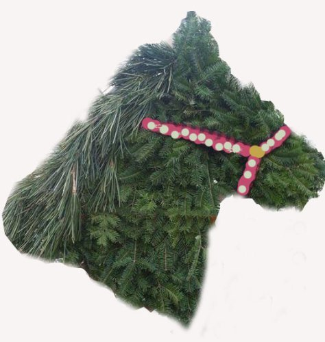 Amazon Com Horse Head Wreath Wire Form Made In Horse Country
