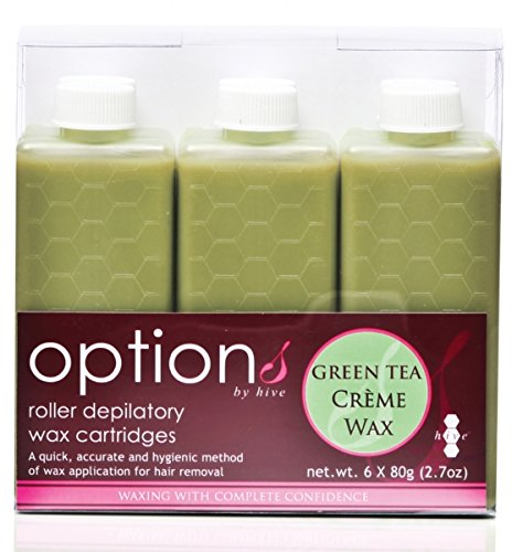 Hive 6pcs Refill Roller Depilatory Roll on Wax Cartridges Green Tea Creme Wax 80g CODE: - Refills Wax Cartridge